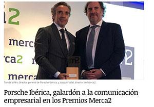 Porsche-Iberica,-galardon-a-la-comunicacion-empresarial-en-los-Premios-Merca2